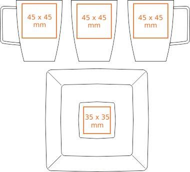 Powierzchnia nadruku na filiżance Magnetic